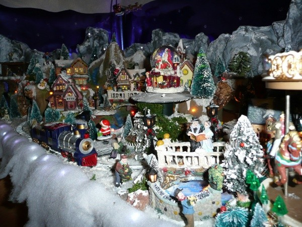 Decoration de noel village - Village de noel miniature ...